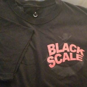 NWOT BLACK SCALE Logo Tee Made In USA